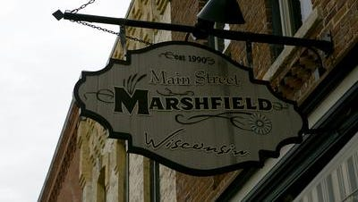 Main Street Marshfield is the starting point for the St. Patrick's Day scavenger hunt in downtown Marshfield.