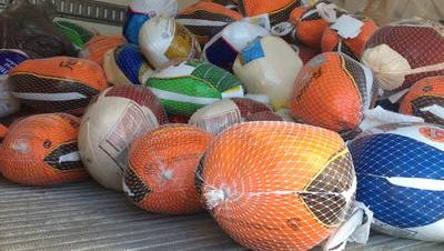 Turkeys collected during Catholic Charities of Broome County's annual holiday drive.
