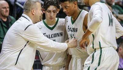 Dave Turco coaching St. Joseph during last year's GMCT final.