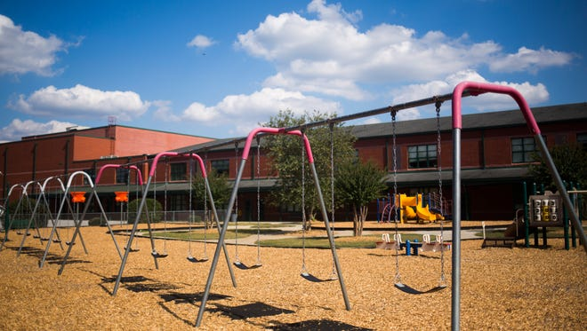 The playground at Townville Elementary is photographed on Monday, October 3, 2016 in Townville.