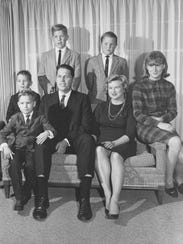 A family picture of the Alberston family taken in 1966