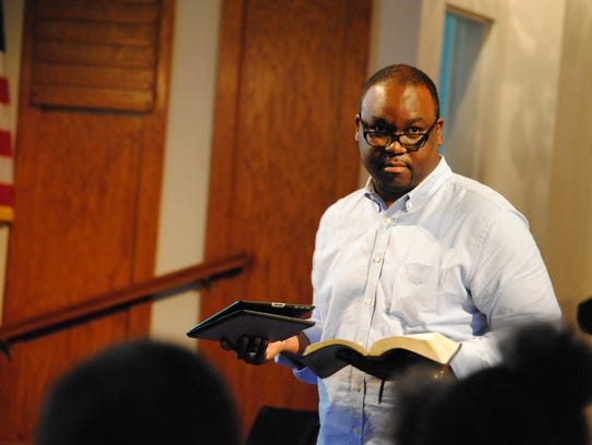 Rev. Ronald Wilson leads a vacation Bible study in