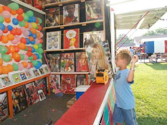 Games were popular at the annual festival at St. Martin