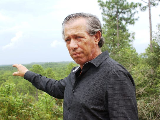 Apalachee Tribe co-chief Arthur Bennett  is visiting