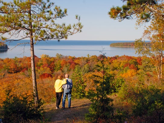 Peninsula State Park is ablaze in color in autumn.