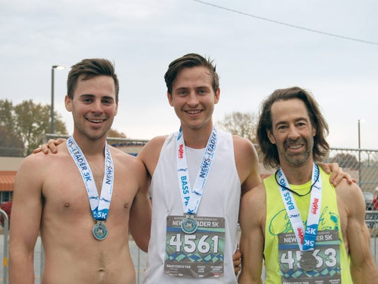 Sons and father, Christian, Andy and Todd Wilkins spend