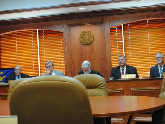 Wichita County Commissioners are seen in this file