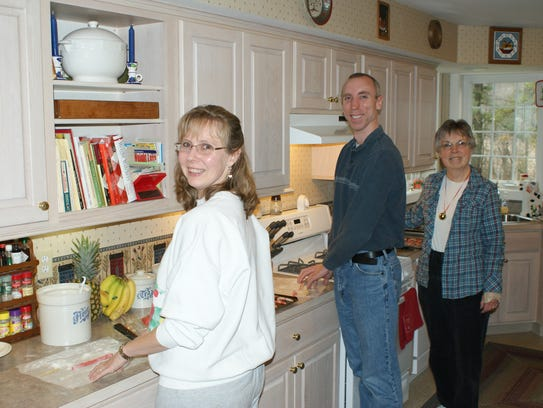 The Kellam family bakes 45 dozen cookies of nine varieties,