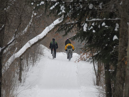 Don't let a little snow stop you from bicycling this