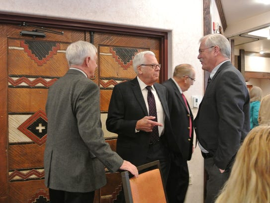 Rep. Jim Townsend, left, Chair of the Carlsbad Brine