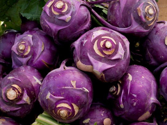 Kohlrabi can be eaten raw or cooked.