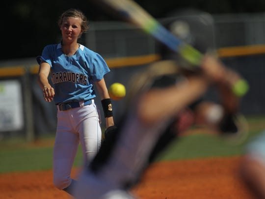 Maclay pitcher Kenzie Mullins threw seven innings in a 6-4 win over NFC that returned the Marauders to the state tournament for the first time since 1995.