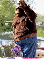 Smokey Bear greeted the public during the parade that preceded the annual Smoky Bear Stampede, billed as the largest open rodeo weekend in the nation.