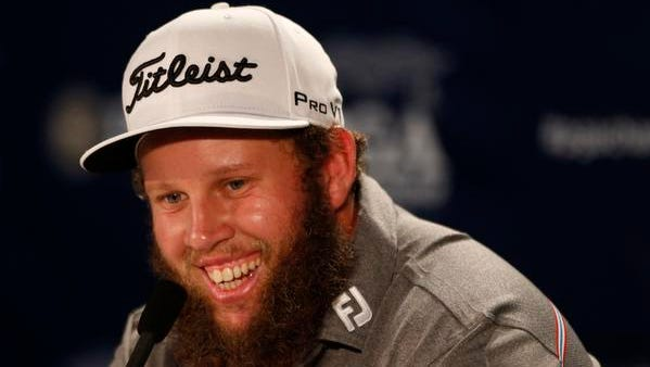 """PGA golfer Andrew """"Beef"""" Johnston speaks to the media during a practice round for the 2016 PGA Championship golf tournament at Baltusrol GC - Lower Course. Mandatory Credit: Brian Spurlock-USA TODAY Sports"""