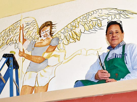 Internationally acclaimed Santero artist Joseph Manuel Chavez painted a mural at St. Ann Catholic Church. Chavez was raised in Deming and has also done restoration work on the Santo Nino de Atoche mural in Hurley, N.M.