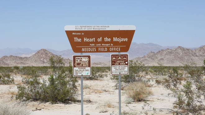 The Mojave Trails National Monument.