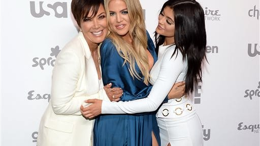 FILE - In this May 14, 2015 file photo, Kris Jenner, left, Khloe Kardashian and Kylie Jenner attend the NBCUniversal Cable Entertainment 2015 Upfront at The Javits Center, in New York. Kardashian Fatigue may not lead to a permanent exit because it can be regularly relieved by dropping one Kardashian/Jenner for another.