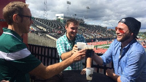 Fans were able to enjoy a brew during the Eastern Michigan-Ball State game.
