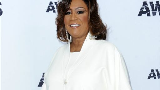 FILE - In this June 28, 2015 file photo, singer Patti LaBelle poses in the press room at the BET Awards in Los Angeles. LaBelle's sweet potato pie sold out at Wal-Mart after James Wright praised the pie in a YouTube video last week.