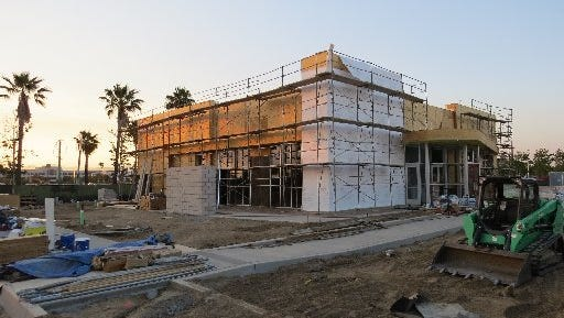 Construction is seen in this 2016 file photo at The Collection in Oxnard. A study on job opportunities has put the city near bottom of the list.