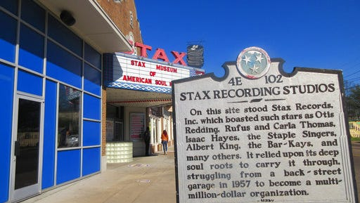 This March 8, 2017 photo shows the Stax Museum of American Soul Music in Memphis, Tenn. The Stax recording studio's roster of stars included Otis Redding, Isaac Hayes and the Staple Singers. It eventually went bankrupt but the museum showcases everything from costumes to cars to walls of hit records.