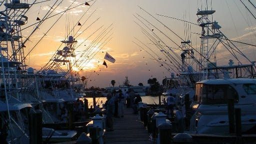 Fort Pierce Main Street's annual Reverse Raffle will be Saturday at the Pelican Yacht Club on Seaway Drive in Fort Pierce, pictured here in a file photo at sunset.
