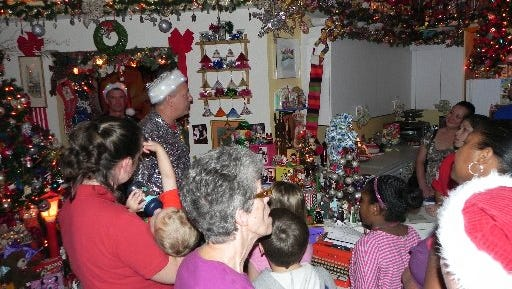 JW Salveson and Jerome Sangalli have opened the Port St. Lucie Christmas House to visitors for years. The house is filled from top to bottom with holiday decorations.