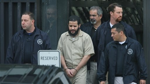 Mufid Elfgeeh is taken out of federal court Thursday in Rochester, N.Y. Elfgeeh is accused of plotting to kill members of the U.S. military and others pleaded not guilty Thursday to new federal charges that he tried to aid the Islamic State group in Syria and Iraq.  With foreign fighters from dozens of nations pouring into the Middle East to join the Islamic State group and other terrorist organizations, U.S. officials are putting new energy into trying to understand what radicalizes people far removed from the fight and into prodding countries around the world to do a better job of keeping them from joining up.