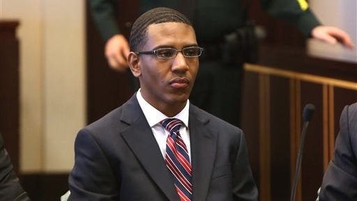 Dante Martin waits for jury selection in court in 2014.
