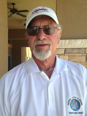 On April 4, 2016 J. D. Cameron, a local resident and regular player at Desert Lakes Golf Course, met the golfers dream of scoring his age. Playing from the Senior Tees at Butterfield Tail Golf Course, El Paso, Cameron states he was lucky enough to score his age of 77 He was playing with Freddy Richards, Richard Brunts and Jim Biggers.