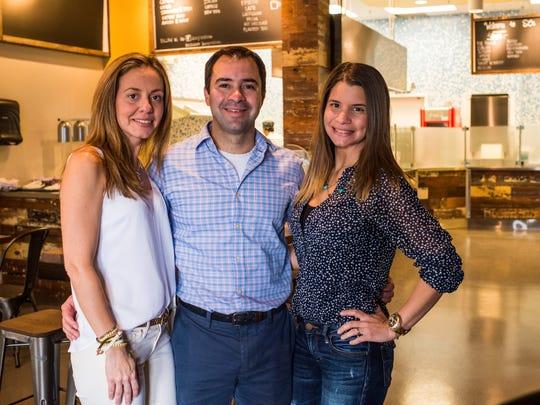 Co-owners Monica Luis, Edgardo Padron and Johana Padron