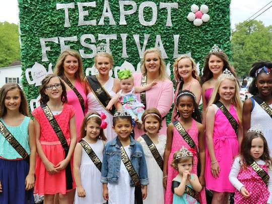 Royalty at the 36th annual Trenton Teapot Festival Grand Parade on Saturday.