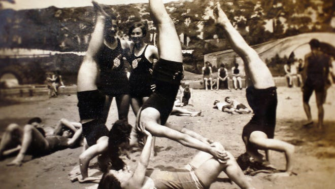 Ada Lunardoni, c,  in an old family photo. Lunardoni was a member of the first women's gymnastics team to compete in the Olympics.  January 22, 2018. Neptune, NJ. Photo Courtesy of Judith Bosco