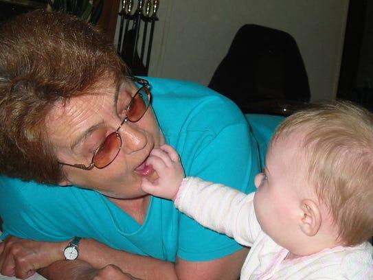 Linda Harris with her granddaughter, Lily Van Ryn.