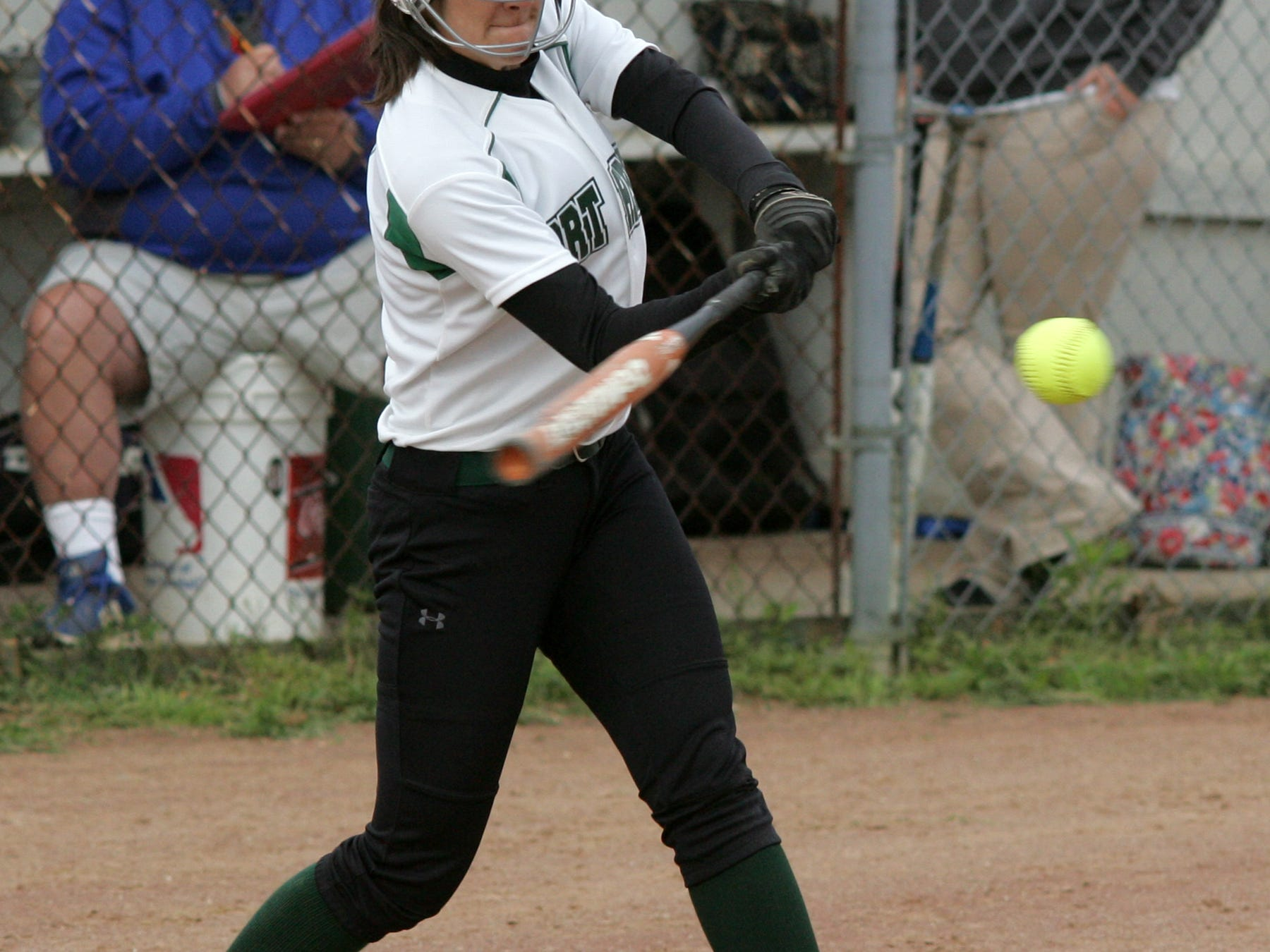 Northridge's Mikaela Pankuch hits a home run Thursday during the Vikings' 5-2 victory against Highland in a Division III second-round game.