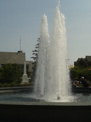 The fountain in Birmingham's Shain Park generally shuts
