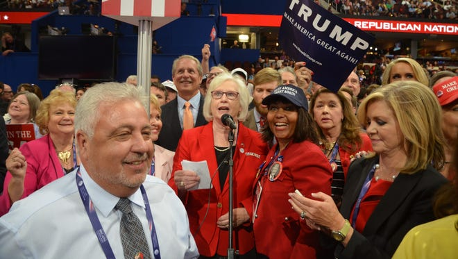 Mae Beavers served as chairwoman of the Tennessee delegation to the Republican National Convention in July.