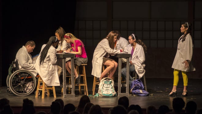 One of the core conflicts in the show is the brainiacs vs. the jocks.