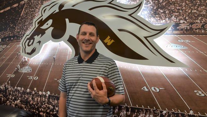 Western Michigan football coach Tim Lester.