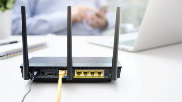 A home router.