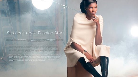 Sessilee Lopez for the September-October issue of FASHIZBLACK fashion magazine.