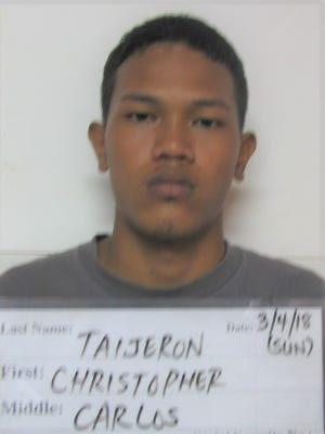 Christopher Carlos Taijeron, 19, was charged with two counts of assault as a misdemeanor and child abuse as a misdemeanor.