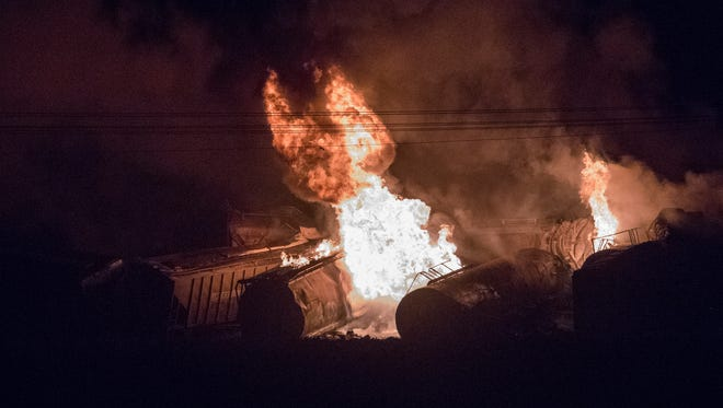 A train derailment in Princeton Sunday night closed U.S. 41 in both directions and caused a mandatory evacuation. Anyone within a 1-mile radius was forced to evacuate.
