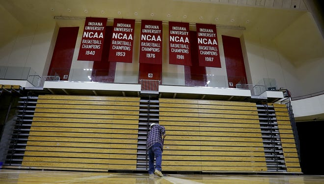 The newly renovated Simon Skjodt Assembly Hall on campus of  Indiana University in Bloomington.