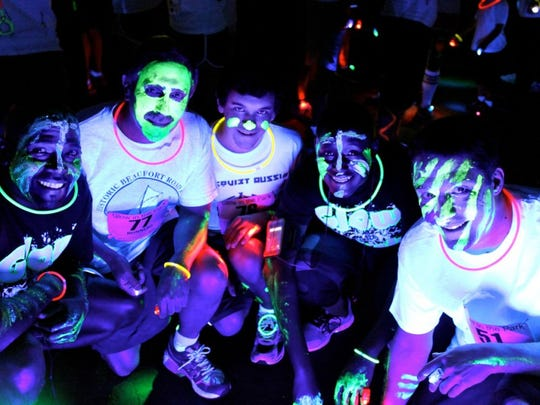 You can try to finish this race fast, but it's more fun to see how much you can glow in the dark at the Glow in the Park 5K May 17 at Garfield Park.