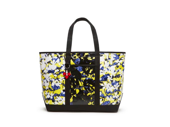 Get graphic with bold, eye-catching prints. Peter Pilotto for Target tote in green floral print, $39.99 at Target. (Gannett/File)