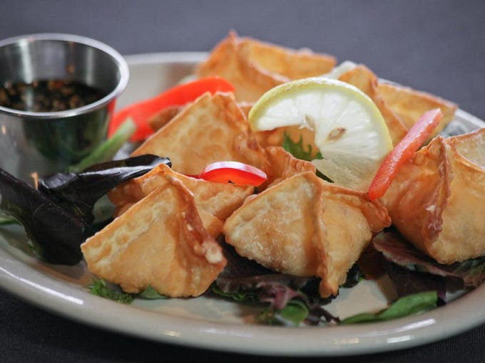 Lobster wontons at The Blackstone Grille in Prospect, Ky. Sept. 15, 2014