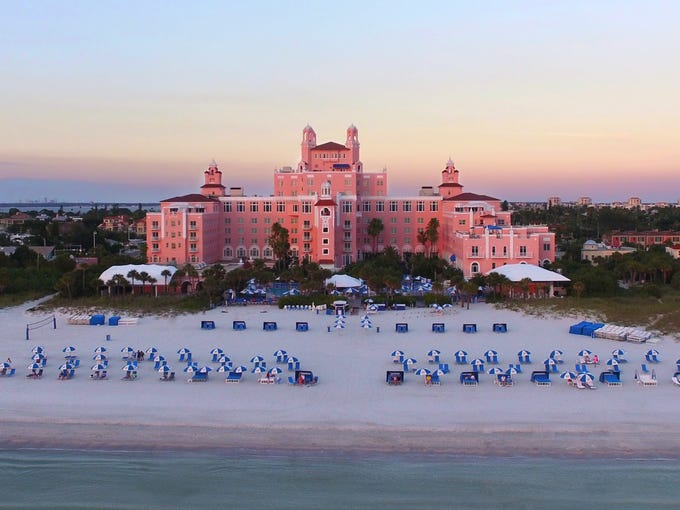 An Aerial View Of The Loews Don Cesar Hotel In St