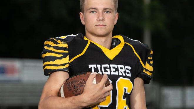 Maplewood High School's Kaleb Donor, RB/OLB, is shown at Meadville High School on July 7, 2020.