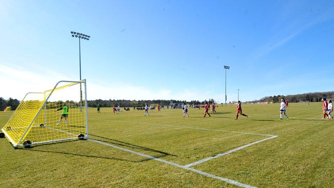 The Wausau East and West girls soccer teams kick off the first match Thursday at the new Eastbay Marathon County Sports Complex in Wausau.